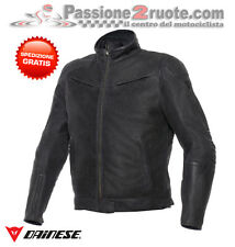 Chaqueta Dainese black Hawk cuero negro black moto leather jacket