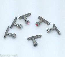 1X Micro Dermal Top Head Ball Gem & Anchor Base Foot 14 gauge Skin Body Piercing