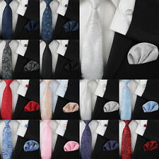 New Men's Floral Paisley Silk Neckties Tie+Hanky+Cufflinks Sets Free Shipping