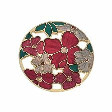 Sea Gems Large Summer Flowers Rounded Brooch - 2719G
