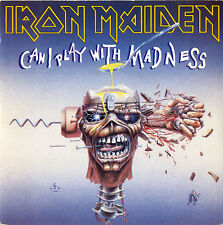 """Iron Maiden Can I Play With Madness - P/S 7"""" vinyl single record UK EM49 EMI"""