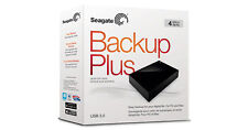"Seagate 4 TB  Backup Plus USB 3.0 & 2.0 Hard Disk Drive 3.5"" with power adaptor"