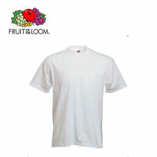 T-SHIRT FRUIT OF THE LOOM 100% COTONE, UOMO, VALUEWEIGHT DA 160/165 GR/MQ
