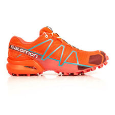 Salomon Speedcross 4 Womens Red Trail Waterproof Running Shoes Trainers