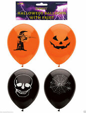 New Halloween Balloons 15 Assorted 23cm Halloween Trick or Treat Scary Party