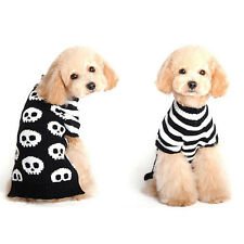 Pet Dog Halloween Christmas Sweater Puppy Winter Clothes Knit Coat Apparel Skull