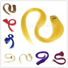 Lot 5pcs Extensions de Cheveux Raide Perruque Extension à Clip 3 Tailles