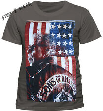OFFICIAL Sons Of Anarchy Grey President Flag T Shirt Mens Unisex NEW S M