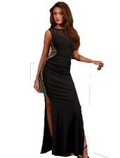 Ladies Long Maxi Dress Sexy Party Cocktail Bodycon Dresses Size 10 12 14