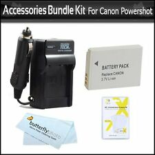 Battery And Charger Kit For Canon Powershot