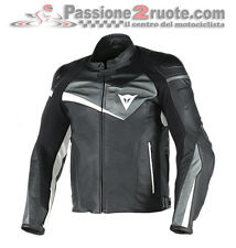 Dainese Veloster black anthracite moto leather jacket