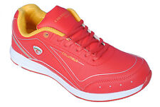 COLUMBUS BRAND MENS RED YELLOW RC-004 CASUAL LACE SPORTS SHOES