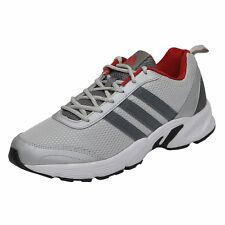 Adidas Brand Mens Albis Silver Red Running Sports Shoes