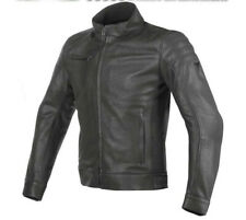 Giacca moto vintage retro cafe racer in pelle Dainese Bryan nero