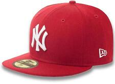 New Era New York Yankees Cap Red 59fifty Basic Fitted Basecap 6 7/8 - 8 MLB 5950