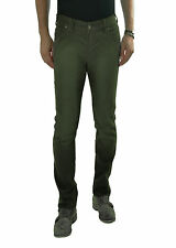 YES ZEE by ESSENZA pantaloni uomo slim fit - cinque tasche - Verde -