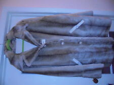 BN MOST STUNNING DENNIS BASSO REVERSIBLE FAUX FUR/SUDE WARM WINTER COAT SIZE XL