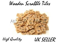 New Wooden Scrabble Individual Tiles Letters Numbers Crafts Alphabet Game Wood
