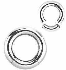 HIGH POLISHED SURGICAL STEEL SEGMENT RING  GUAGE 4g-2g - 5mm-6mm