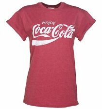 Official Women's Enjoy Coca-Cola Rolled Sleeve Boyfriend T-Shirt
