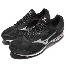 Mizuno Wave Rider 20 Black White Mens Running Shoes Sneakers Trainer J1GC1703-01