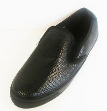 Ladies Spot On Black Snake Print Casual Shoes - F80030