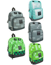 Minecraft Creeper Silver Diamond Backpack Rucksack School Bag