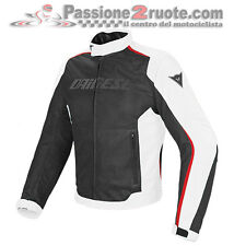 Giacca Dainese Hydra Flux D-dry nero bianco rosso traforato impermeabile