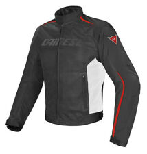 Jacket moto Dainese Hydra Flux D-dry black white red perforated waterproof