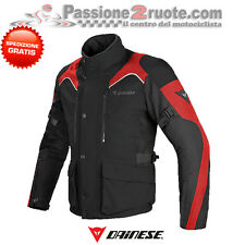 Giacca Dainese Tempest D-dry nero rosso moto touring impermeabile 4 stagioni