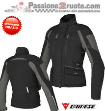 Giacca moto donna Dainese Temporale D-dry nero touring impermeabile 4 stagioni