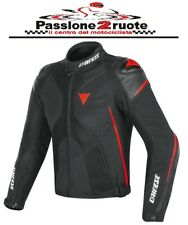 Jacket moto Dainese Super Rider D-dry black red texile leather waterproof sport