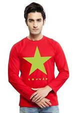 Clifton Mens Star Printed T-Shirts F/S R-Neck-Red-Green Star