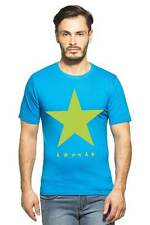 Clifton Mens Star Printed T-Shirts H/S R-Neck-Turquiose-Green Star