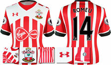 *16 / 17- UNDER ARMOUR;SOUTHAMPTON HOME SHIRT SS + PATCHES / ROMEU 14 = SIZE*