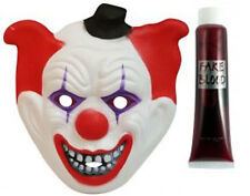Adult EVA Clown Mask with Fake Blood Tube Horror Halloween Fancy Dress