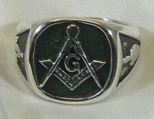 ANELLO MASSONICO IN ARGENTO 925 SQUADRA COMPASSO STERLING SILVER MASONIC RING