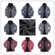 Flannel Jacket Plaid Jacket Hooded Zip Sherpa Lined Extra Heavyweight