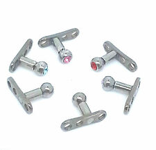 New Micro Dermal Head Anchor Stainless Steel Grade 23 Titanium Body Piercing
