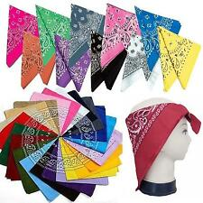 Hot Style 100% Cotton Paisley Bandanas double sided head wrap scarf wristband