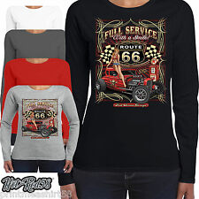 Mujer HotRod 58 Ropa Camiseta manga larga Servicio Speed Shop ROCKABILLY 19