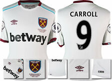 *16 / 17 - UMBRO ; WEST HAM UTD AWAY SHIRT SS + PATCHES / CARROLL 9 = SIZE*