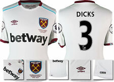 *16 / 17 - UMBRO ; WEST HAM UTD AWAY SHIRT SS + PATCHES / DICKS 3 = SIZE*