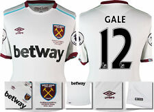 *16 / 17 - UMBRO ; WEST HAM UTD AWAY SHIRT SS + PATCHES / GALE 12 = SIZE*