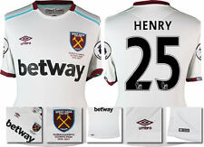 *16 / 17 - UMBRO ; WEST HAM UTD AWAY SHIRT SS + PATCHES / HENRY 25 = SIZE*