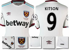 *16 / 17 - UMBRO ; WEST HAM UTD AWAY SHIRT SS + PATCHES / KITSON 9 = SIZE*