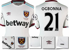 *16 / 17 - UMBRO ; WEST HAM UTD AWAY SHIRT SS + PATCHES / OGBONNA 21 = SIZE*