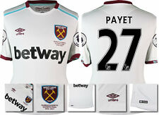 *16 / 17 - UMBRO ; WEST HAM UTD AWAY SHIRT SS + PATCHES / PAYET 27 = SIZE*