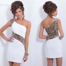 Womens Ladies Summer Sequins Bodycon Lace Evening Sexy Party Cocktail Mini BLLT
