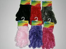 GIRLS FLUFFY GLOVES-MITTENS FEATHER TOUCH